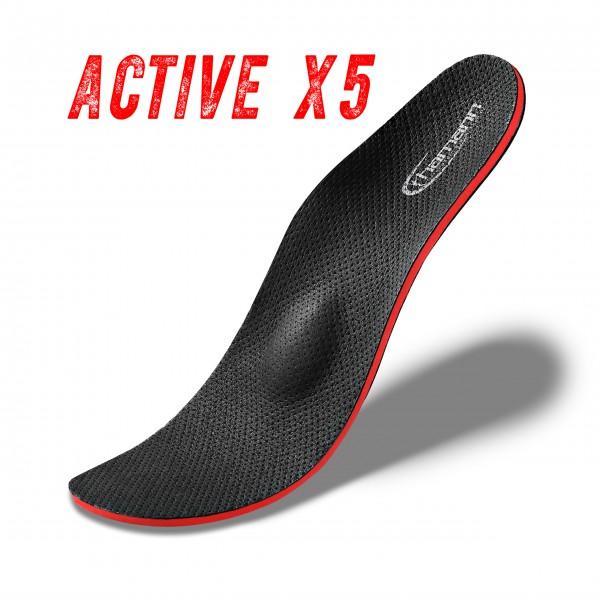 Active X5 Orthopädische Schuh Einlagen, bei Knickfuß, Senkfuß, Plattfuß, Spreizfuß, metatarsalgie, Hallux Valgus